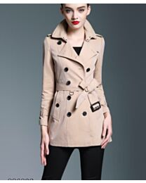 Burberry Women's Double breasted trench coat Dark Coffee