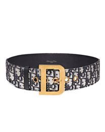 Christian Dior Women's Diorquake Dior Oblique Belt Dark Blue
