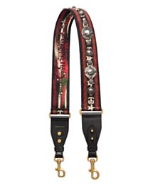 Christian Dior Bohemian-inspired Shoulder Strap In Canvas