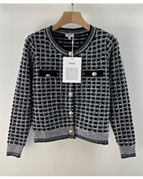Chanel Women's Knitted Crew Neck Jacket