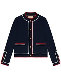 Gucci Women's Cotton Knitted Cardigan Black