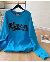 Gucci Women's Crystal Cat Patch Sweater