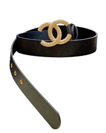 Chanel Caviar Cowhide Belt Black