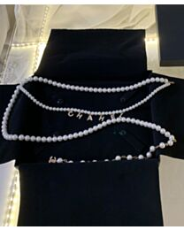 Chanel Waist Chain Belt White