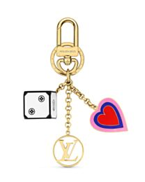 Louis Vuitton Game On Dice And Heart Bag Charm And Key Holder MP2913 White