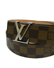 LV Intials Damer Azur Belt Brown