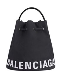 Balenciaga Wheel XS Drawstring Bucket Black