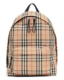 Burberry Vintage Check Nylon Backpack Apricot