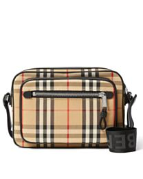 Burberry Vintage Check and Leather Crossbody Bag Apricot