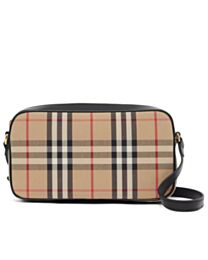 Burberry Small Vintage Check and Leather Camera Bag Apricot