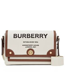 Burberry Horseferry Print Canvas Note Crossbody Bag Coffee