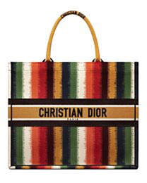 Christian Dior Book Tote Red