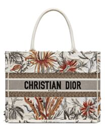 Christian Dior Small Camouflage Embroidered Canvas Book Tote Bag