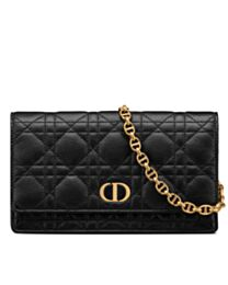 Christian Dior Caro Belt Pouch With Chain
