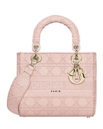 Christian Dior Medium Lady D-lite Embroidered Cannage Bag