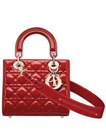 Christian Dior My Abcdior Lady Dior Bag Red