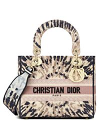 Christian Dior Medium Lady D-Lite Bag Apricot