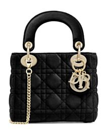 Christian Dior Mini Lady Dior Bag Black