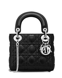 Christian Dior Lady Dior Mini Classic Tote Bag With Lambskin