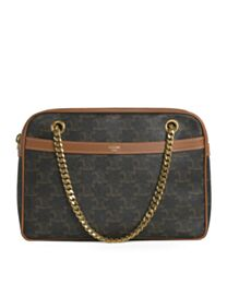 Celine Medium Patapans In Triomphe Canvas Brown