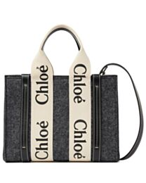 Chloe Small Woody Tote Bag With Strap