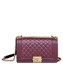 Chanel Lambskin Medium Boy Bag A67086