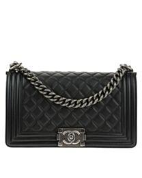 Chanel Lambskin Boy Bag A67086 Black