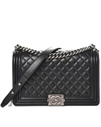 Chanel Lambskin Boy Bag Black