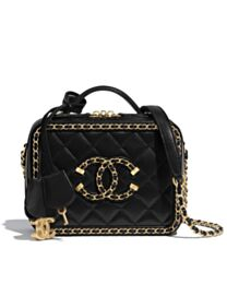 Chanel Small Vanity Case AS1785 Black