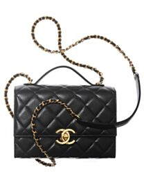Chanel Mini Flap Bag With Handle AS2796 Black