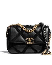 Chanel 19 flap bag Black