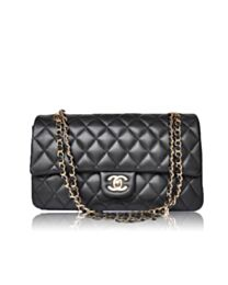 Chanel Classic Flap Cow Leather Crossbody Bag A58600 Y01295 Black