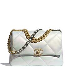 Chanel 19 Large Flap Bag AS1161 Cream