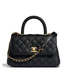 Chanel Small Flap Bag With Top Handle A92990 Black