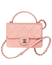Chanel Small Flap Bag With Top Handle AS2680 Pink