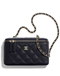 Chanel Small Vanity With Classic Chain AP1341 Black