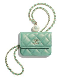 Chanel Flap Coin Purse With Chain AP2119 Blue