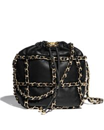 Chanel Small Drawstring Bag AS2313 Black
