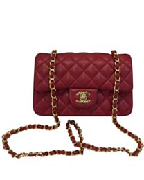 Chanel Quilted Leather Vintage Mini Flap Bag A01116