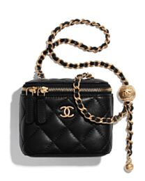 Chanel Small Classic Box with Chain AP1447 Black