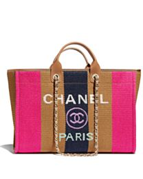 Chanel Large Shopping Bag A93786 Coffee