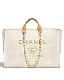 Chanel Canvas Large Deauville Tote A66942