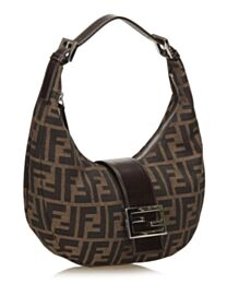 Fendi Small Croissant With FF Print Coffee