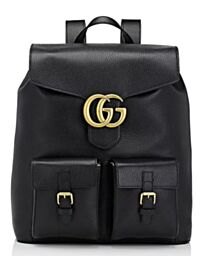 Gucci Marmont Backpack Leather 429007 Black