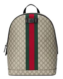 Gucci GG Supreme backpack with Web 443805 Coffee