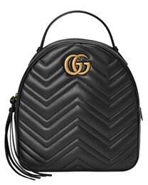Gucci GG Marmont Quilted Leather Backpack Bag 476671