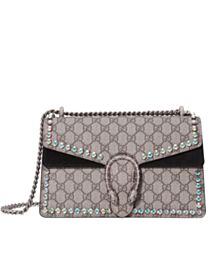 Gucci Dionysus GG Supreme shoulder bag with crystals 400249