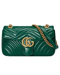 Gucci GG Marmont Matelasse Bag 443497 Green