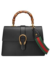 Gucci Women's Dionysus Leather Top Handle Bag 421999 Black