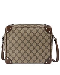 Gucci GG shoulder bag with leather details 626363 Dark Coffee